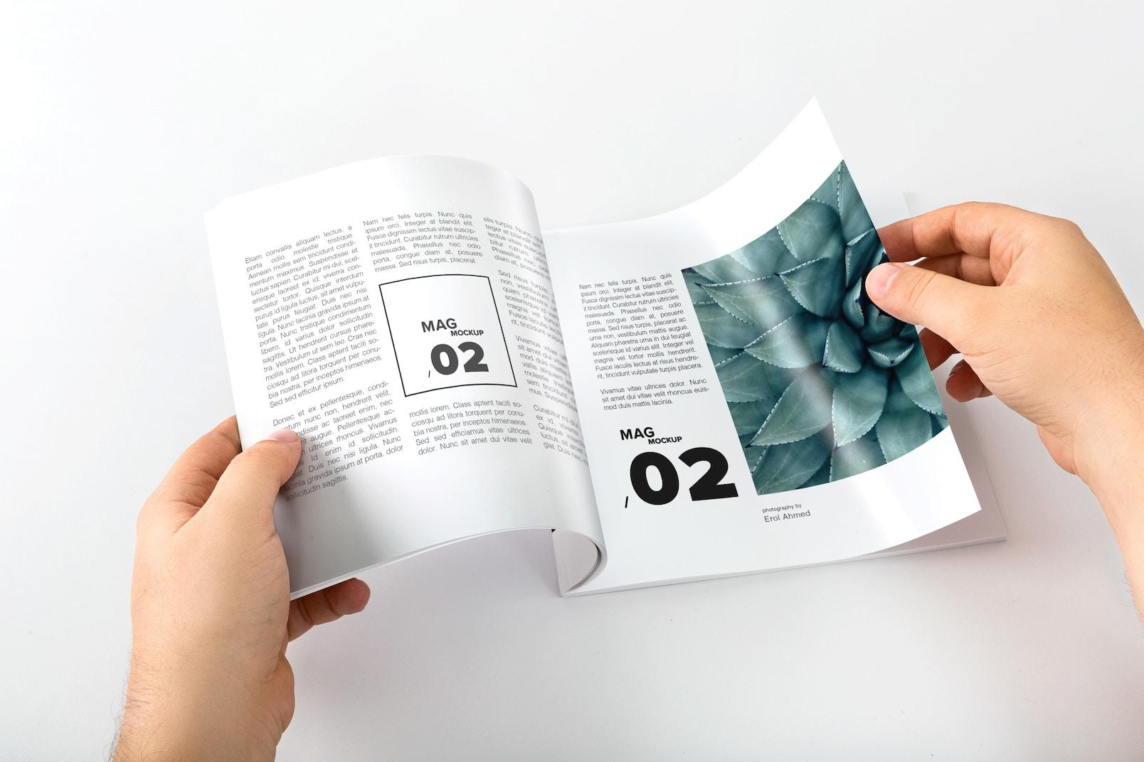 Square Magazine Opening Mockup