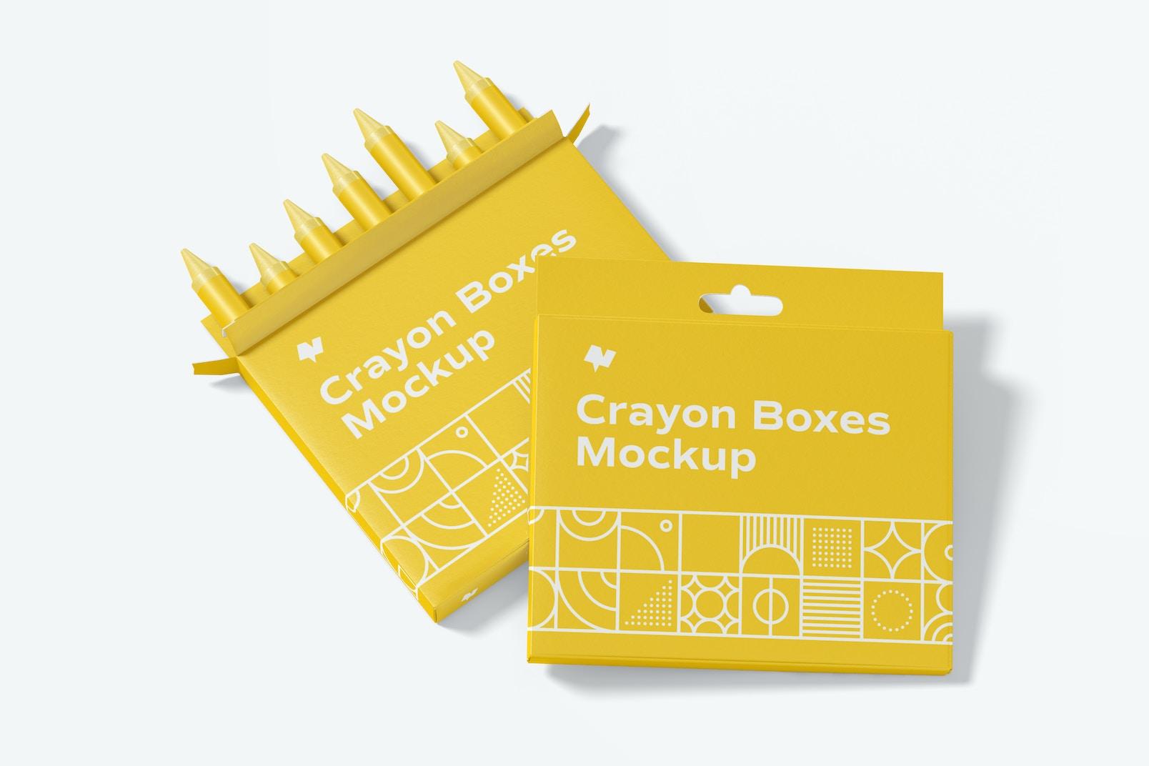 Crayon Box Mockup, Frontal View