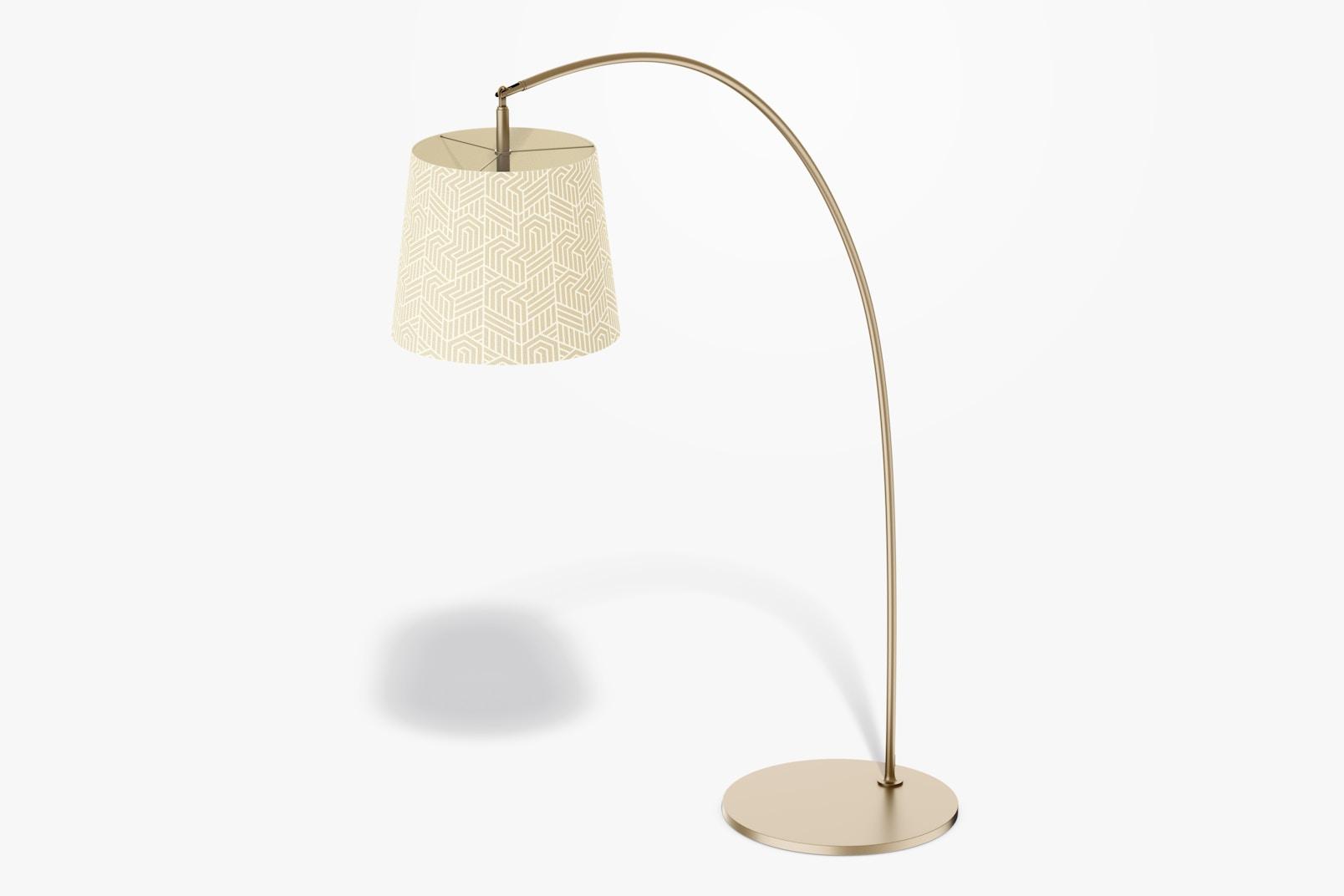 Arc Floor Lamp Mockup, Side View