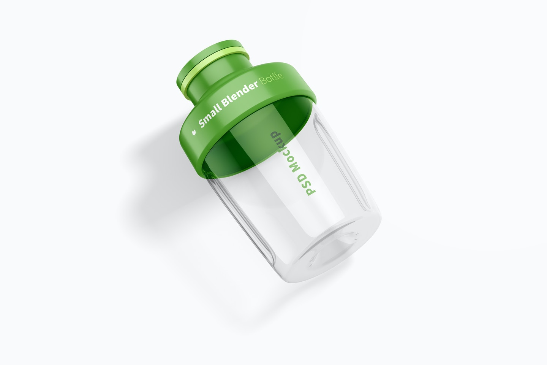 Small Blender Bottle Mockup, Top View