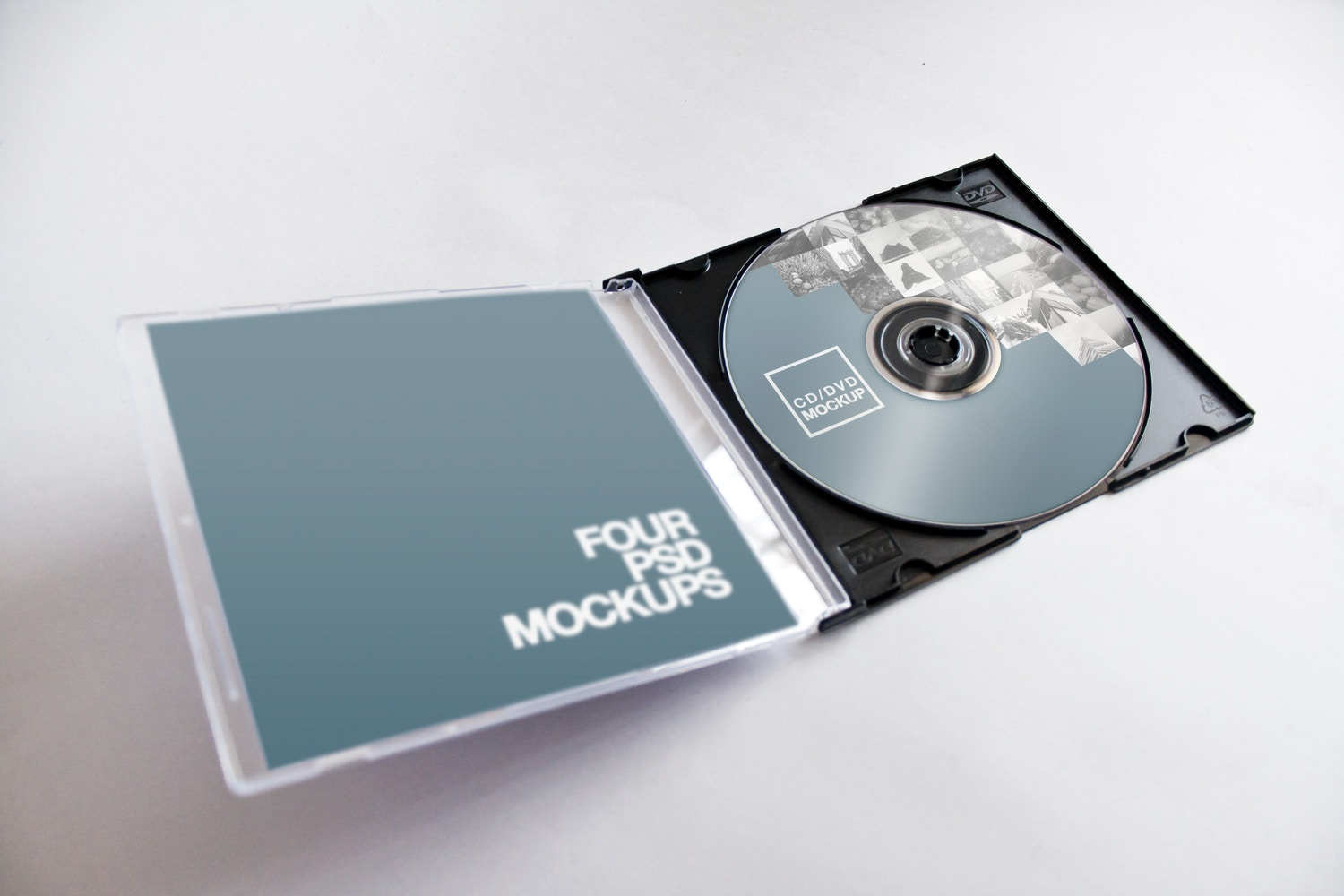 CD-DVD Jewel Case Opened Mockup 02 by Carlos Viloria on Original Mockups