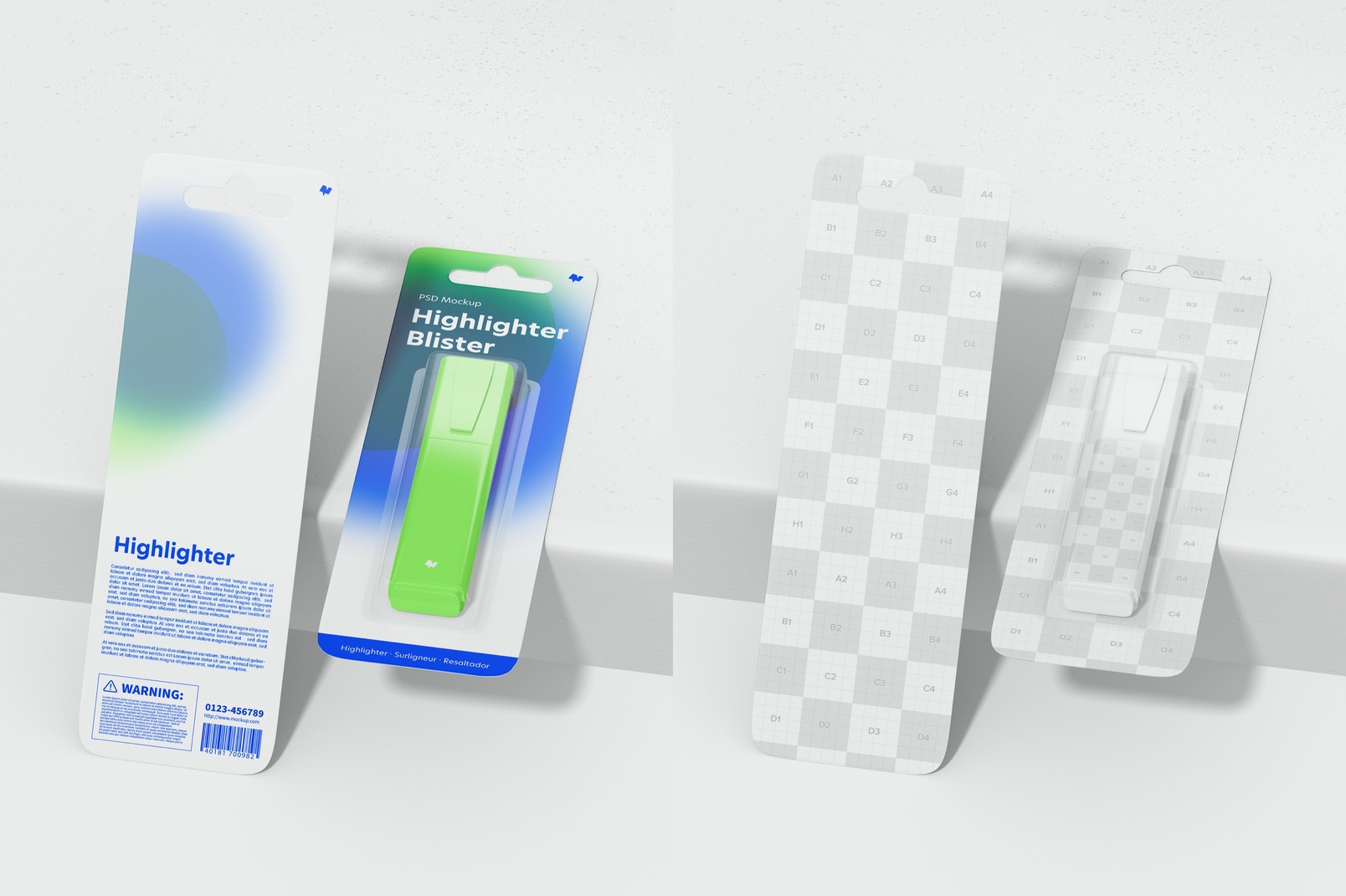 Highlighters Blisters Mockup