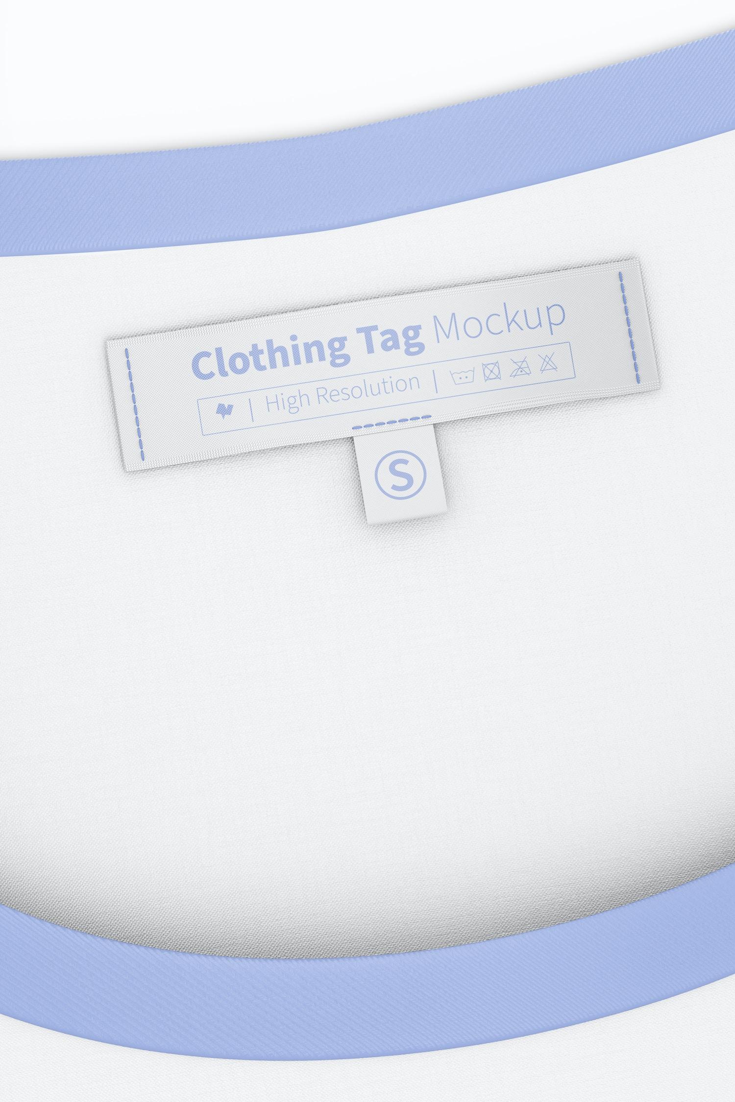 Clothing Tag Mockup, on T Shirt